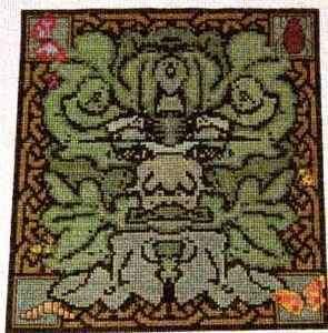 Celtic Obsessions Green Man Cross Stitch Pattern