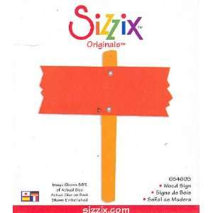 Sizzix Originals WOOD SIGN Die RED 654691: Arts, Crafts