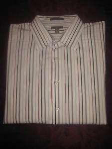 APT. 9 Mens L/S Superfine 80s Cotton Shirt   XXL
