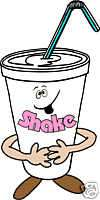 Shake Milk Ice Cream Concession Food Sign Decal 12.5