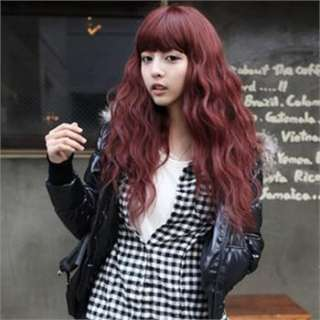 colors Women Long Curly Wavy Synthetic Hair Wigs New Sexy Free