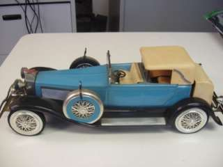 Vintage Jim Beam Duesenberg Model J Car Blue Porcelain Decanter w/ Box