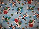 AN ADORABLE BUGS BUNNY HOLIDAY CHRISTMAS COTTON FABRIC BY THE YARD