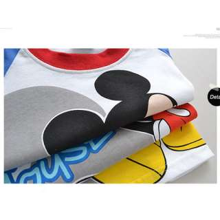 2012 Baby Kids Boys Mickey Mouse Short Sleeve T Shirt Top Tee 2 8