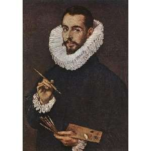 painting name: Portrait of the Artists Son Jorge Manuel, By Greco El