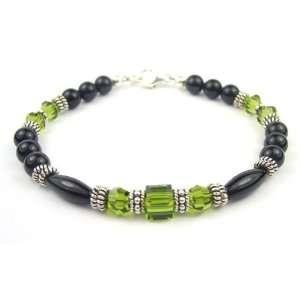 Olivine   Dark August Peridot Swarovski Crystal Bracelets