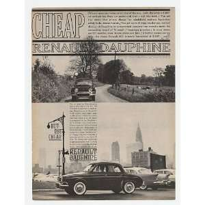 Renault Dauphine Cheap But Not Cheap Print Ad (18162)