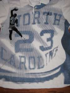 AIR JORDAN UNC NORTH CAROLINA TARHEELS ADULT POLO SHIRT SS MENS SIZE