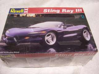 25 1993 CORVETTE STING RAY III CONCEPT ORIGINAL REVELL MODEL KIT