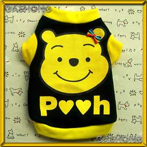 Small Dog&Cat Clothing A205,Pooh Printed Shirts Apparel