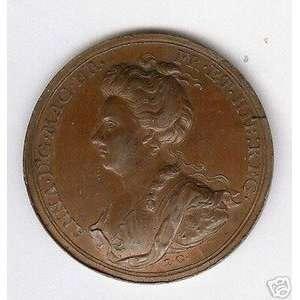 GREAT BRITAIN QUEEN ANN 1706 BRONZE MEDAL