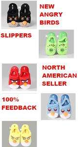 Angry Birds Slippers for Children Plush (All Bird Types) One Size Kids