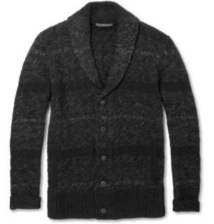Knitwear  Shawl collar  Marl Stripe Cable Knit Cardigan