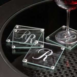 Wedding Favors Personalized Glass Coasters Set of 4