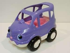 Fisher Price Little People Purple Pink Mini Van Car w/ Sounds