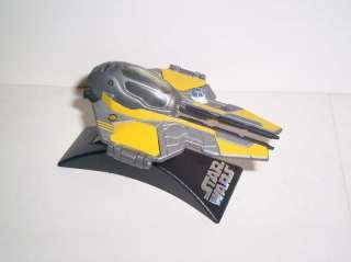STAR WARS Titanium 3 Anakins JEDI STARFIGHTER yellow complete