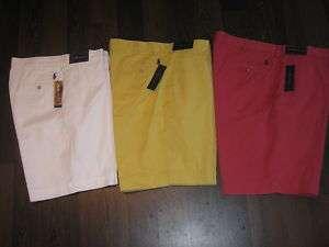 Mens Polo Ralph Lauren Preston Flat Front Shorts w Logo