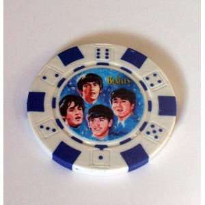 The Beatles blue Las Vegas Casino Poker Chip limited ed