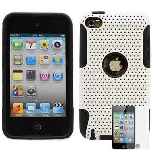 Apple Ipod Touch 4g 2 in 1 Hybrid hard case White/Black + Screen