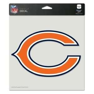 Chicago Bears Die Cut Decal   8x8 Color  Sports
