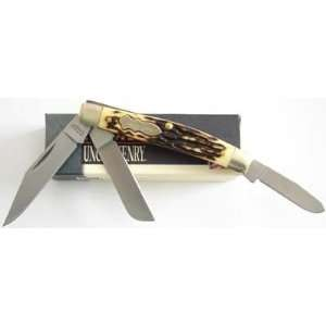 Schrade Uncle Henry Rancher 3 Blade Knife   Clam Pack