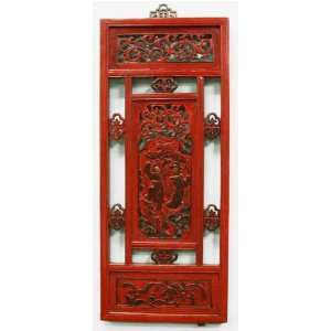 Antique Chinese Carved Wooden Window Frame   Architectural