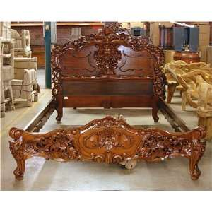 RJ3694B5 ORNATE VICTORIAN ROCOCO MAJESTY KING QUEEN BED