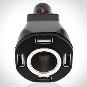 5 in 1 Auto Charger. 4 Port USB Car Charger and 1 12V DC