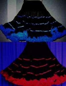 PETTICOAT RED/ BLUE FLUFF SQUARE DANCE WESTERNROCK