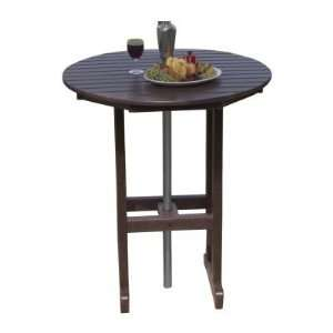 Polywood Recycled Plastic Round Bar Table Patio, Lawn