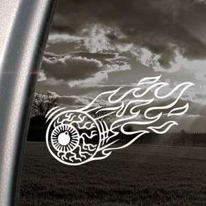 Eyeball Flame Decal Hotrod Rat Fink Window Sticker: Automotive