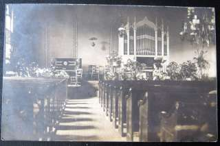 Bullville Crawford NY~1908 INSIDE CHURCH~ORGAN~ RPPC