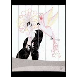 The Bird Cage BIG Art Deco Print by Erte Everything