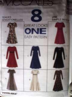 UNCUT McCalls Pattern Semi Fitted Dress 8 Looks 8518 FF