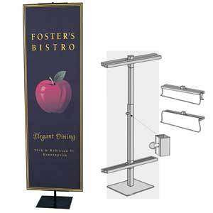 Heavy Duty Center Pole Banner Stand Display, 12 90