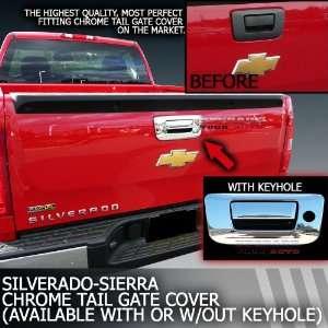 2007 2012 Silverado Sierra Chrome Tail Gate Cover With