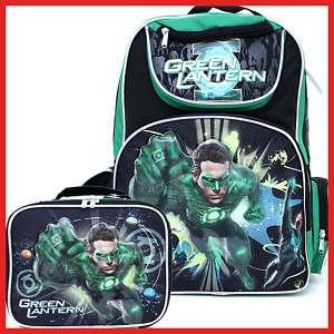 DC Comic Green Lantern Large School Backpack Lunch Bag