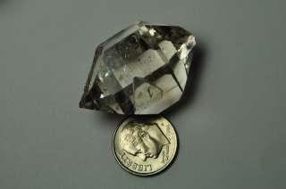 35mm Smoky Herkimer diamond (New York) quartz crystal 18.15grams 90