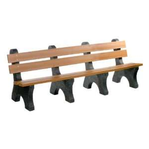 Colonial Recycled Plastic Outdoor Bench 8 L Patio, Lawn & Garden