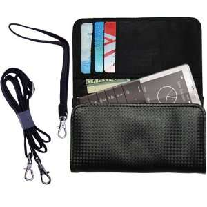Black Purse Hand Bag Case for the Sony Ericsson Xperia Pureness