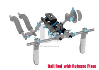 Rail 15mm Rod Support System For Matte Box Canon 5D Mark II