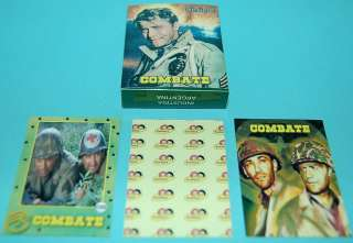 COMBAT Vic Morrow TV SERIE WAR MINI TRADING CARDS ARGENTINA # 3