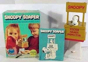 Vintage 1975 Peanuts Gang SNOOPY SOAPER Kenner in Original Box
