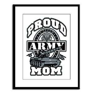 Large Framed Print Proud Army Mom Tank