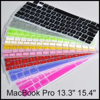 Silicon KeyBoard Cover Case For MacBook Pro 13.3 15.4