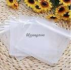 Pure White Wedding gift bags jewelry favor Party organza pouches 3*3.5