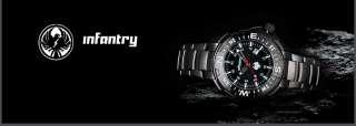 Mens Stainless Steel Wrist Quartz Army Military Black Watch