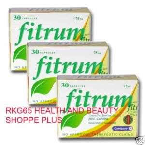 15box FITRUM Green Tea Extract LOOSE WEIGHT LOSS PILL