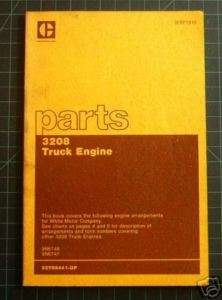 CAT Caterpillar 3208 Truck Engine Parts Manual Book