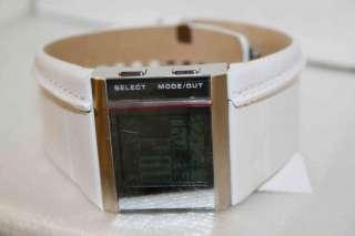 Diesel Mens Brown White Black Leather Cuff Sport Watch
